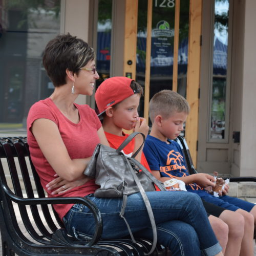 Downtown Cedar Falls Iowa Family