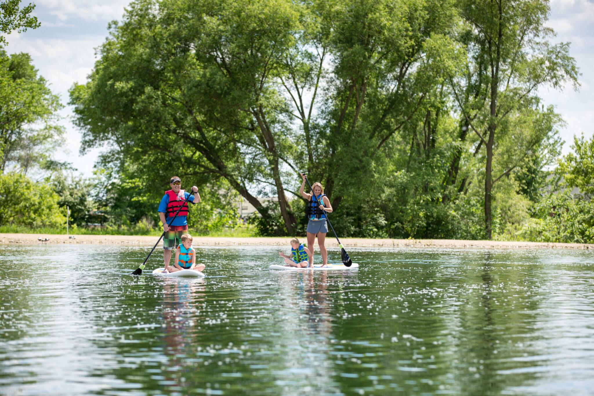 New Hampton Iowa Paddle boarding Family