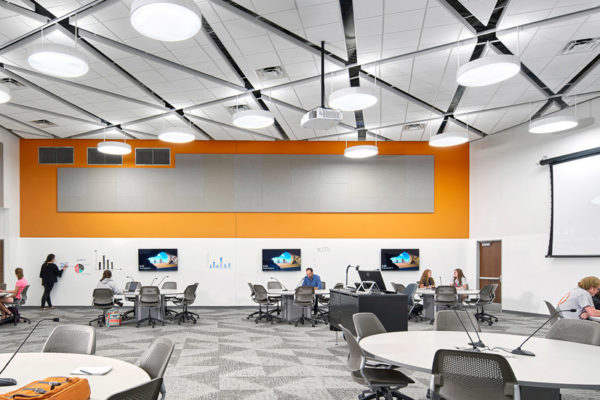 The new classrooms in Schindler Education Building at the University of Northern Iowa in Cedar Falls.