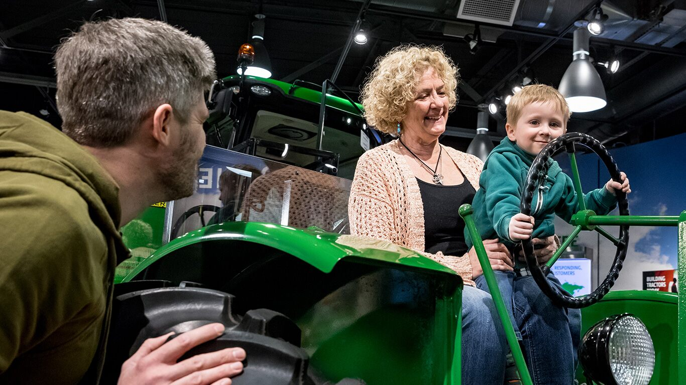 John Deere Tractor Museum in Waterloo Iowa wins best museum in Iowa.