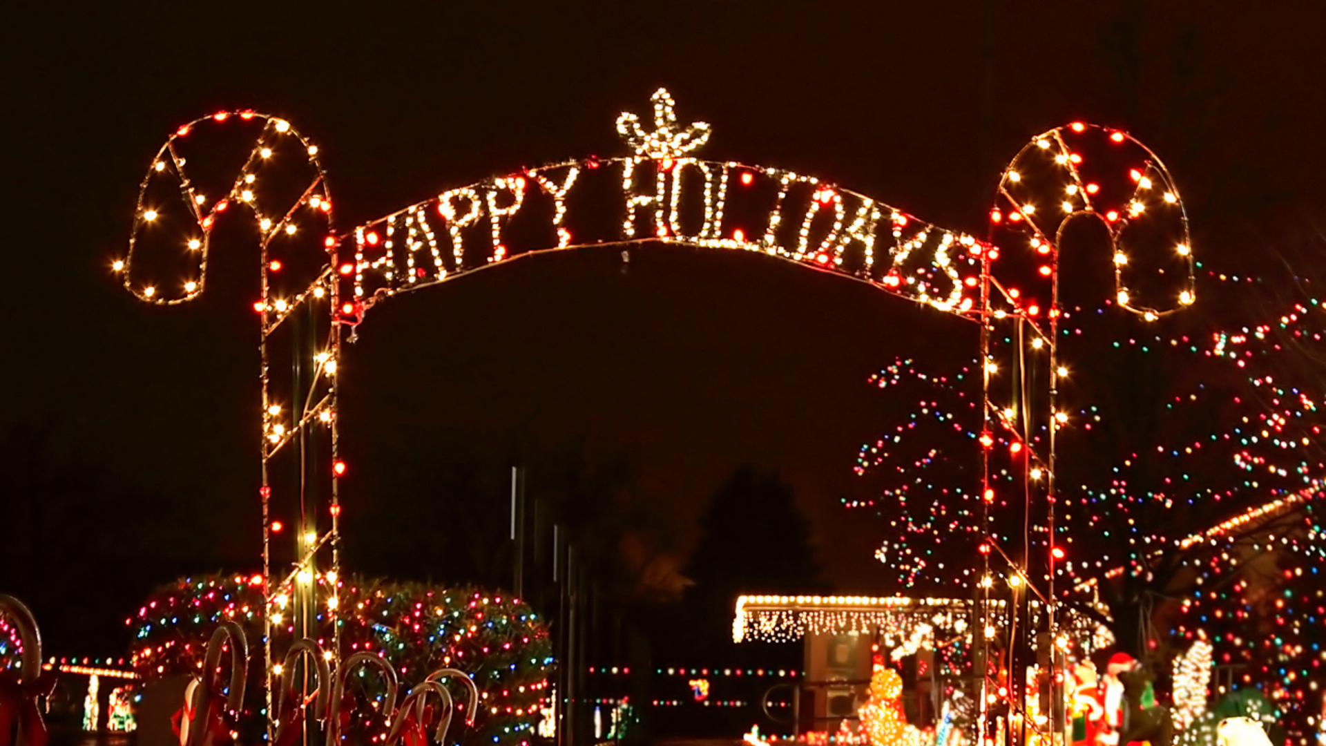 Holiday Light Displays in the Cedar Valley
